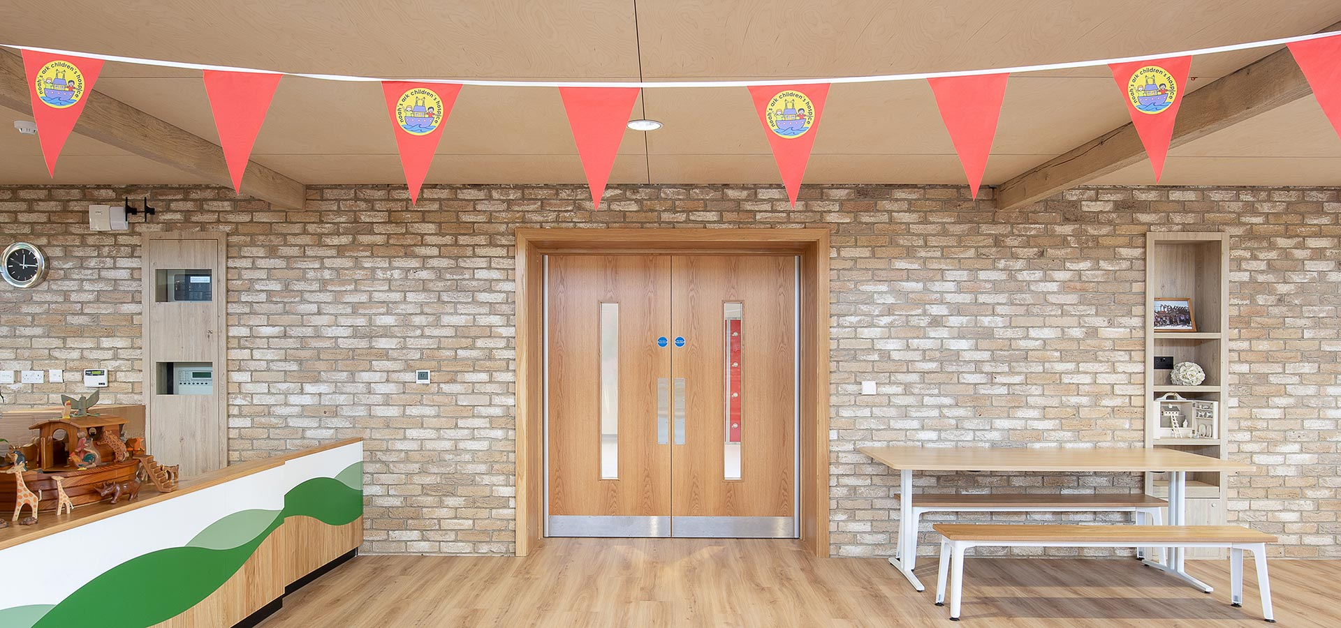 Veneered fire doors supplied to Noah's Ark by Doorview Ltd