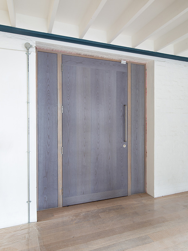 Doorview Douglas Fir veneered doors at Goldsmiths Centre for Contemporary Art